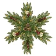 The Holiday Aisle 32'' Fir Snowflake Wreath