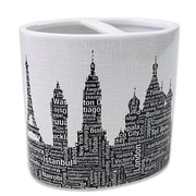 Ivy Bronx Elianna  Silhouette City Resin Toothbrush Holder