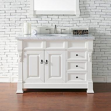 James Martin Furniture Brookfield 48'' Single Bathroom Vanity Base; Cottage White