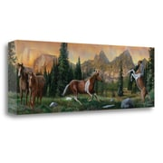 Loon Peak 'Horses Movement' Acrylic Painting Print on Wrapped Canvas