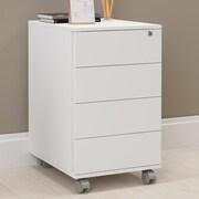 Latitude Run Branchburg 4 Drawer Vertical Filing Cabinet; White