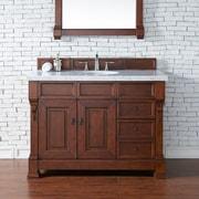 James Martin Furniture Brookfield 48'' Single Bathroom Vanity Base; Warm Cherry