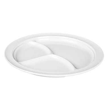 Winston Porter Ada 3 Compartment Divided Serving Dish (Set of 12); White