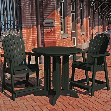 Longshore Tides Deerpark 3 Piece Counter Height Dining Set; Charleston Green