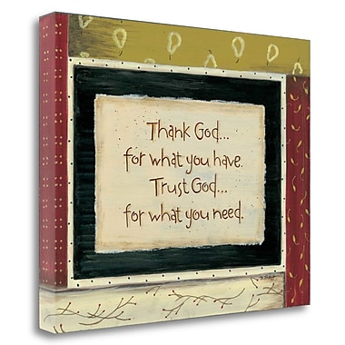 Red Barrel Studio 'Thank God' Textual Art on Wrapped Canvas; 22'' H x 28'' W