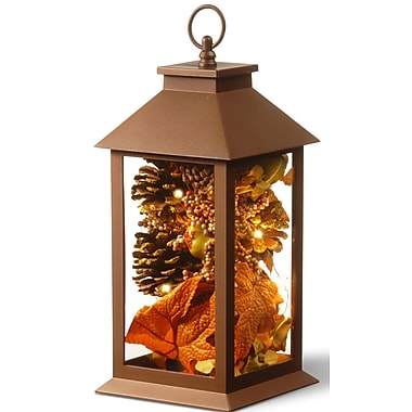 The Holiday Aisle Harvest Arrangement in LED Lamp w/ Matte Finish