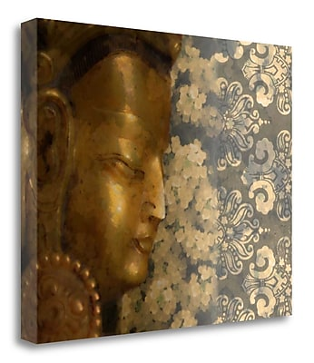 Bloomsbury Market 'Golden Buddha I' by Kari Brooks Framed Graphic Art Print on Wrapped Canvas