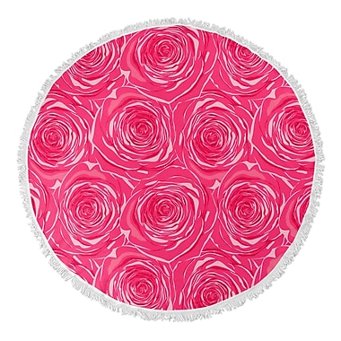 Bungalow Rose Ace Bed of Roses Round Beach Towel