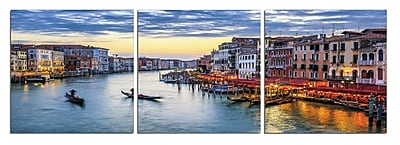 East Urban Home 'Venice Caf ' Photographic Print Multi-Piece Image on Wrapped Canvas
