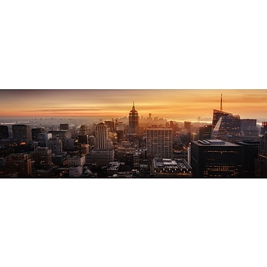 East Urban Home 'Midtown Mist' Photographic Print on Wrapped Canvas