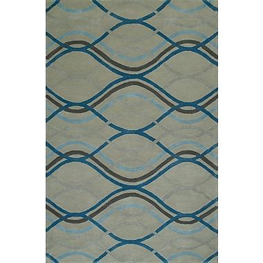 Latitude Run Gorham Hand-Woven Steel Area Rug; 9' x 13'