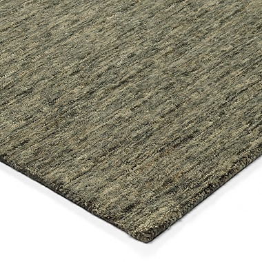 Latitude Run Glenville Hand-Woven Wool Carbon Area Rug; 5' x 7'6''