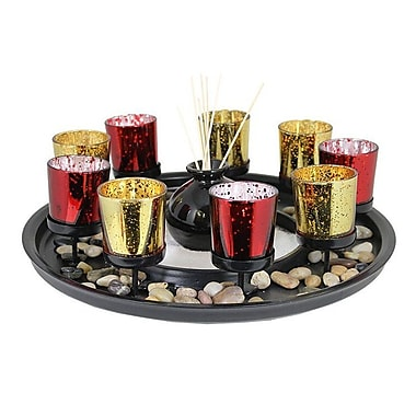 Red Barrel Studio 11 Piece Glass Candle Holder Set
