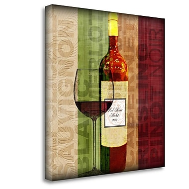 Red Barrel Studio 'Wine Patter' Graphic Art Print on Wrapped Canvas; 29'' H x 29'' W