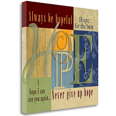 Red Barrel Studio 'Funky Hope' Graphic Art Print on Wrapped Canvas; 28'' H x 28'' W