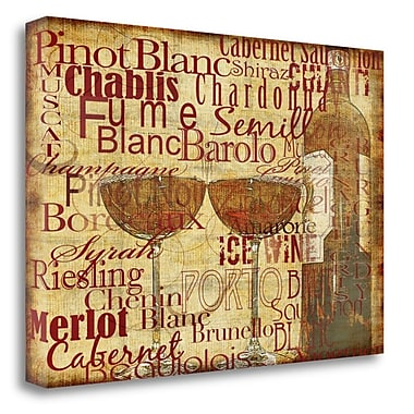Red Barrel Studio 'Wine Classics' Graphic Art Print on Wrapped Canvas; 19'' H x 27'' W