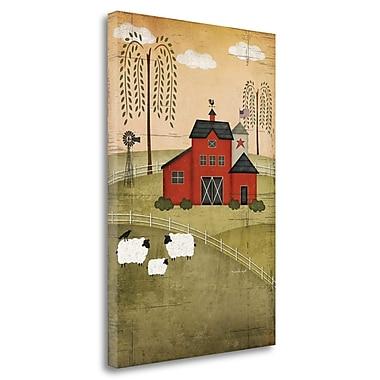 Red Barrel Studio 'Primitive Barn' Graphic Art Print on Wrapped Canvas; 29'' H x 20'' W