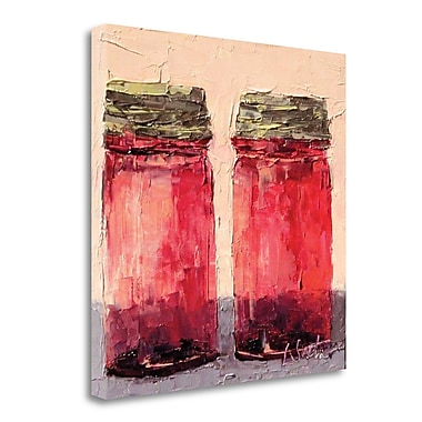 Red Barrel Studio 'Cranberry Jars' Print on Wrapped Canvas; 20'' H x 20'' W
