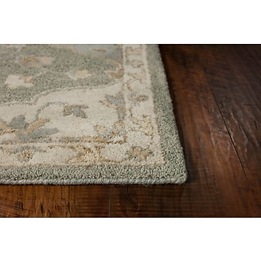 Alcott Hill Landsdale Hand-Tufted Wool Gray Area Rug; 5'6'' x 5'6''