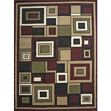 Winston Porter Karyn Red Indoor Area Rug; 5' x 7'