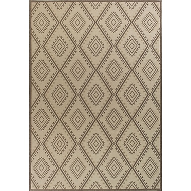Bungalow Rose Cretien Flat Woven Wool Ivory Area Rug; Round 9'10''