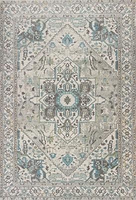 Bungalow Rose Curtice Gray/Blue Sutton Area Rug; 5'3'' x7'7''