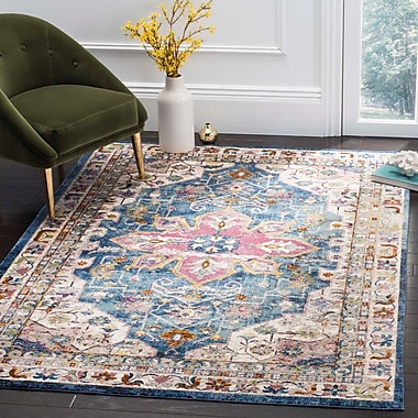 Bungalow Rose Andy Blue Indoor Area Rug; 5'1'' x 7'6''