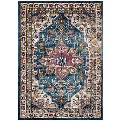 Bungalow Rose Andy Blue Indoor Area Rug; 4' x 6'