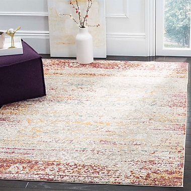Bungalow Rose Andy Red Area Rug; Round 6'5''
