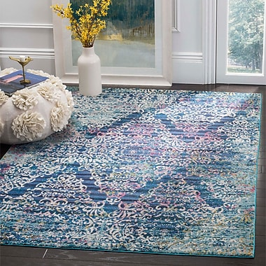 Bungalow Rose Andy Blue Area Rug; 8' x 10'