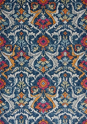 Bungalow Rose Curtice Navy Area Rug; 9'10'' x 13'2''