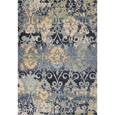 Bungalow Rose Curtice Gray Grace Area Rug; Rectangle 9'10'' x 13'2''