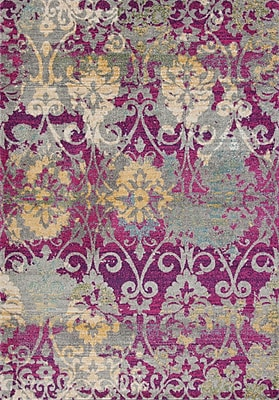 Bungalow Rose Curtice Fuchsia Grace Area Rug; 7'10'' x11'2''