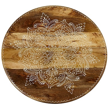 Bungalow Rose Duval Handpainted Floral Lazy Susan