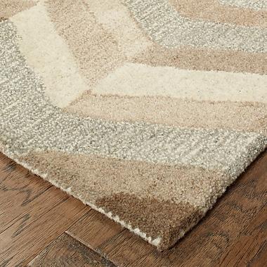 Corrigan Studio Frank Hand-Tufted Wool Beige Area Rug; Runner 2'6'' X 8'