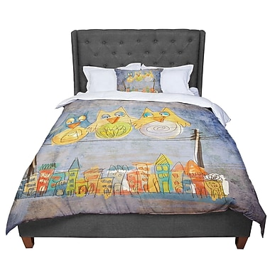 East Urban Home Carina Povarchik Lechuzas Comforter; Queen