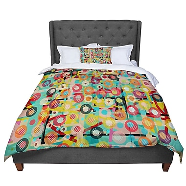 East Urban Home Bri Buckley Gift Wrapped Crazy Comforter; Twin
