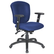 Symple Stuff Adjustable Desk Chair; Blue