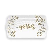 The Holiday Aisle Gather Garland Melamine Appetizer Platter