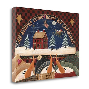 The Holiday Aisle Home for Christmas' Print on Wrapped Canvas; 24'' H x 32'' W