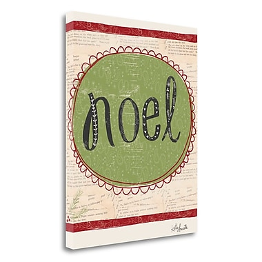 The Holiday Aisle Noel' Textual Art on Wrapped Canvas; 24'' H x 20'' W