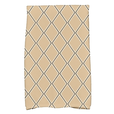 East Urban Home Diamond Cotton Hand Towel; Taupe
