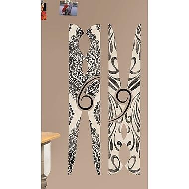 Ebern Designs Espinoza Clothes Pins Giant Wall Decal
