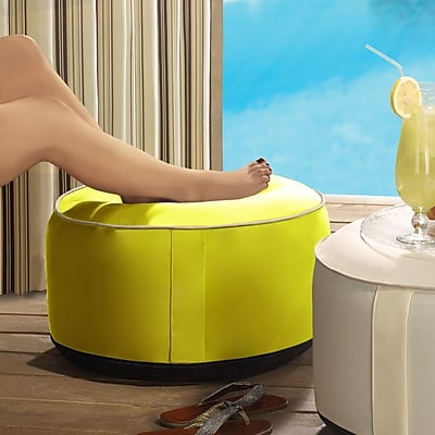 Ebern Designs Rosalinda Inflatable Ottoman; Yellow