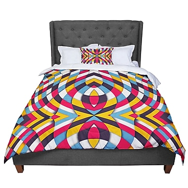 East Urban Home Danny Ivan Stained Glass Comforter; King