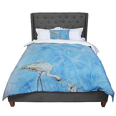 East Urban Home Kira Crees Crane Comforter; Twin