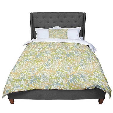 East Urban Home Julia Grifol Warm Tropical Leaves Comforter; Twin