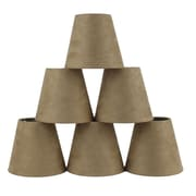 Ebern Designs 5'' Suede Empire Candelabra Shade (Set of 6); Tan