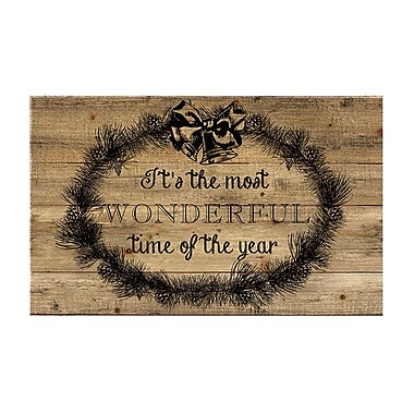 Gracie Oaks 'It's the Most Wonderful Time of the Year' Textual Art on Wood