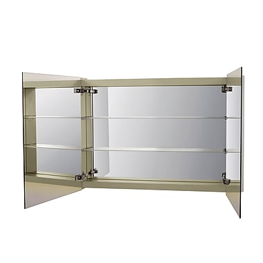 Ronbow Signature Series Mirror Brit LED 41'' W x 28'' H Wall Mounted Cabinet; Left Door